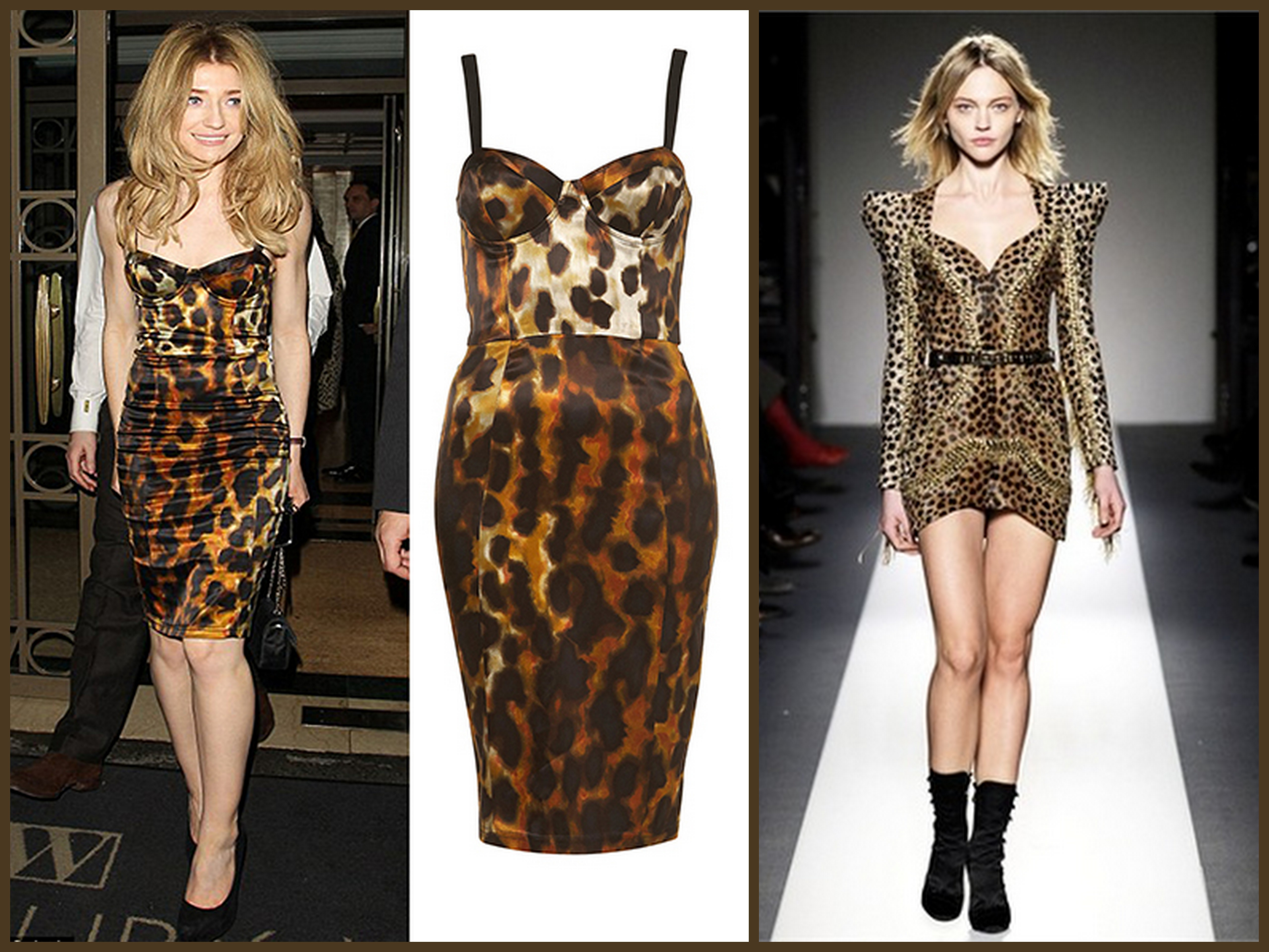 roar down the runway in lovely leopard prints strutting in