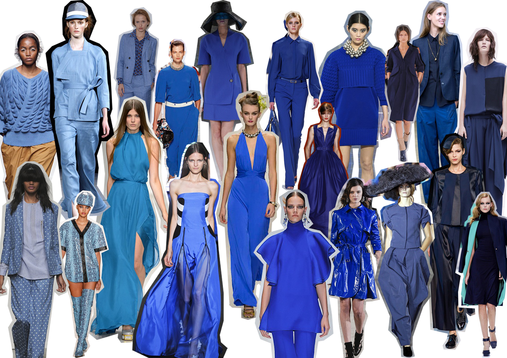 Gussy Up In Fabulous Hues Of Blues Strutting In Style