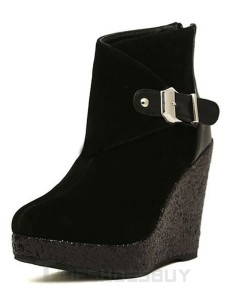 Fashion-Buckle-Round-Toe-Micro-Suede-Upper-Wedge-Booties-for-Woman-365013-1738981