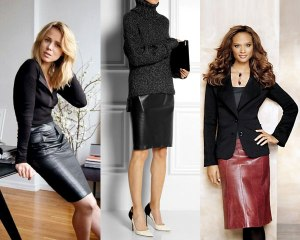 Formal-leather-skirt