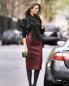 Long-Leather-Skirt
