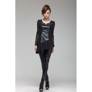 women-s-fashion-sheep-leather-slim-fitting-bottoming-base-skirt-leather-blouse