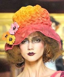 colorful-hats-with-floral-embellishments-spring-summer-2011-John-Galliano