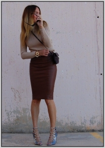 Leather-Pencil-Skirt-Crop-Top