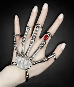 2014-New-Silver-and-Gold-Punk-Goth-Skeleton-font-b-Slave-b-font-Bones-Talon-Hand