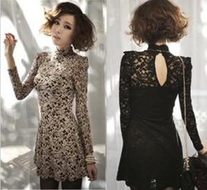 Fashion-Night-Club-Long-Sleeve-Dress-Women-Street-Style-Casual-Dresses-Black-Lace-Stand-Collar-Sexy