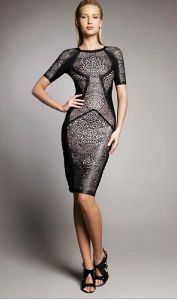 Herve-Leger-Black-Runway-Lace-Dress