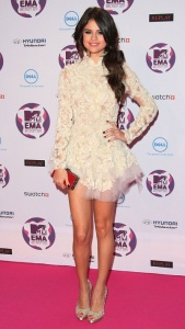 Selena-Gomez-Short-White-Lace-Dresses-Collections-2012
