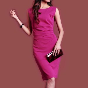 Free-shipping-1pc-lot-fashion-women-dresses-pink-formal-elegant-dresses-best-for-office-ladies-high