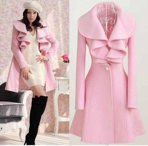 M-XXL-free-shipping-Manufacturers-new-fashion-women-s-winter-pink-long-coats-H0005