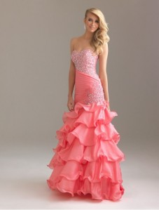 organza-sweetheart-strapless-neckline-mermaid-prom-dress-with-ruffle-skirt