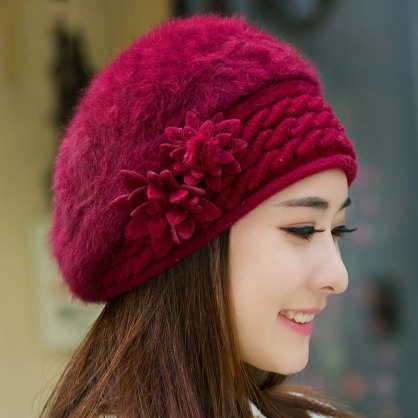 2015-new-winter-warm-hats-caps-for-women-berets-rabbit-hair-casual-caps-fashion-All-match