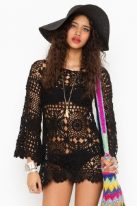 black-color-short-Crochet-Clothes