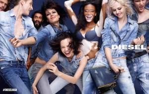 Diesel-spring-2015-ad-campaign-Charlotte-Free-Kiko-Mizuhara-Winnie-Harlow-Gryphone-O'Shea-Surren-Senevirate-05