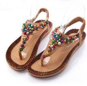 Fashion-Flat-font-b-Sandals-b-font-2015-T-Tied-Bohemia-Flip-Flops-Flat-Heel-Flower