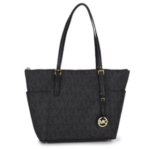 Michael-Kors-Jet-Set-East-West-Signature-Tote-PVC-Logo-Black-P16100324