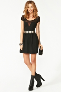 1830-Mesh-Skater-Dress-Black-For-Women-3