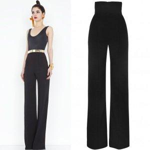 AQ-AQ-Laurent-Black-High-Waisted-Trousers