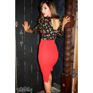 etta-bow-pencil-skirt-red