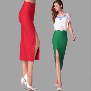 Hot-Quality-Elasticity-Slim-font-b-Skirts-b-font-Women-High-Waist-font-b-Ruffles-b