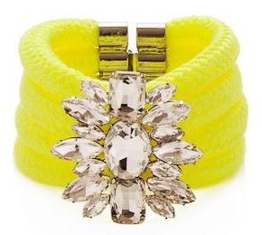 noir-jewelry-jaipur-adalti-cord-rhinestone-bracelet-neon-yellow