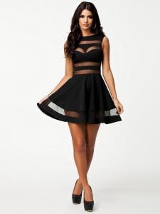 Size-M-L-New-Mesh-2014-Latest-Design-Sheer-Black-Dress-Women-Free-Shipping-Sleeveless-Girls