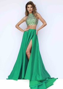 Two%20Piece%20Emerald%20Halter%20Neck%20Keyhole%20Back%20Long%20Prom%20Dress%202015