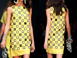 Yellow-Mini-Dress-as-Nice-Clothes-at-Spring-Season-London-Runway-2012