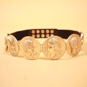 HIGH-QUALITY-New-Fashion-2015-Runway-Belt-Women-s-Metal-Gold-Coin-Retro-Belt-