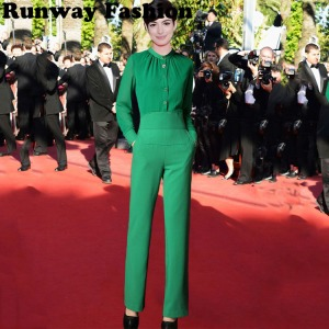 Runway-font-b-Fashion-b-font-2015-Spring-Autumn-High-Street-Famous-Brand-Laides-Green-Button