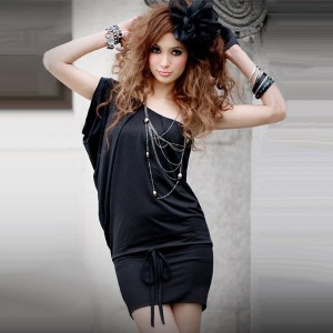 sexy-summer-2012-women-s-Black-slim-hip-tank-dress-one-piece-dress-one-shoulder-dress
