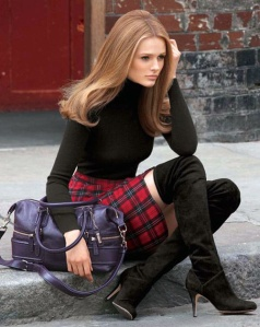 Bootlovers_com on Pinterest + plaid skirt