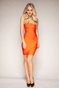 High-Quality-Boob-Tube-Top-Strapless-Dress-font-b-Women-b-font-font-b-Orange-b