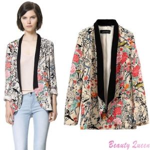 Runway-Vintage-Women-blazer-Boho-Hippie-Loose-Style-Floral-Printed-Kimono-Coat-Cape-Jacket-blazer-feminino