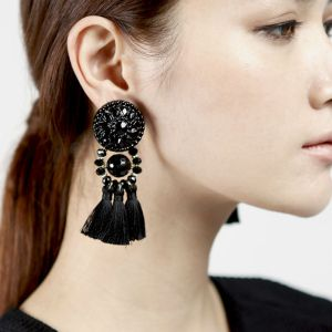 vintage-baroque-drop-earring-big-statement-long-black-tassel-earrings-for-women-cotton-thread-2015-fashionable