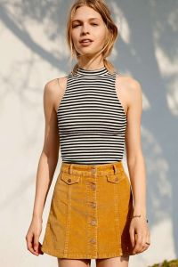 corduroy-skirt-and-striped-top
