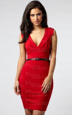 deep-v-neck-dress