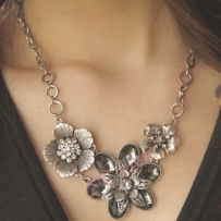 Free-shipping-Europe-and-America-fashion-necklace-Retro-flower-silver-new-style-short-necklace-SC61