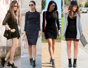 Little-Black-Dress-with-Ankle-Boots