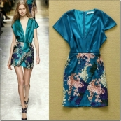o_2015-summer-runway-v-neck-floral-dress-party-gown-b9a2