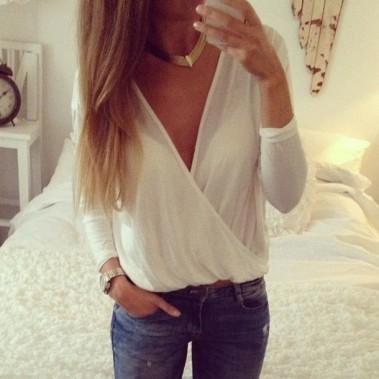 qhywmz-l-610x610-shirt-white-long+sleeve-wrap-jewels-jeans-blouse-white+blouse-cross-hazel-urban+outfitters-fashion-jeans+jacket-white--deep+v+neck-dee