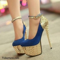 k6z4ew-l-610x610-shoes-gold+heel-blue+shoes-gold+ankle+strap-high+stilettos-gold+studs-color-size