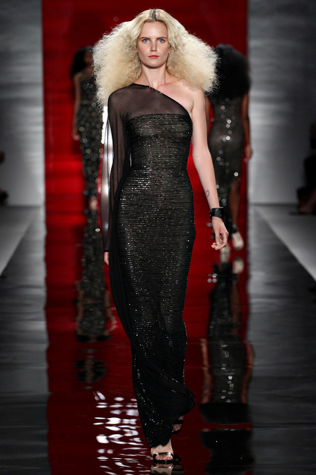 Reem-Acra-Glamorous-Spring-stylish-black-dress-2014-Collection-9