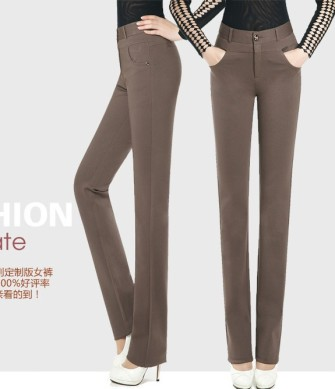 2014-NEW-Fashion-Spring-Office-Women-High-waist-suit-pants-slim-Career-Lady-Straight-Trousers-Female