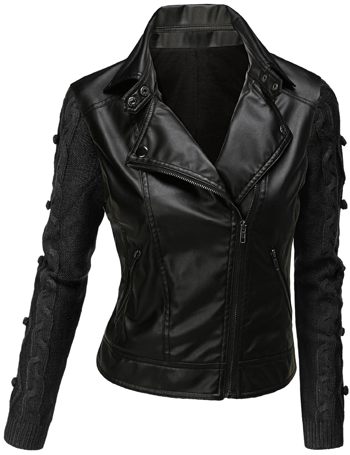 Black Leather Jacket Women | Gommap Blog