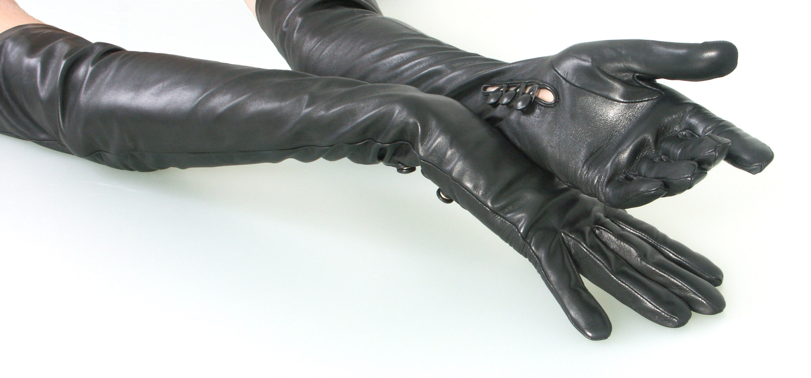 Porn Long Leather Gloves 52