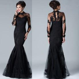 Sexy-elegant-black-evening-dress-Floor-Length-Lace-Mermaid-Long-Evening-Dress2015-New-Fashion-Prom-Gown