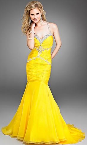 yellow-mermaid-evening-dress