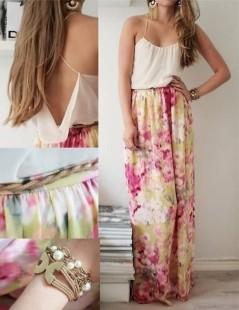 14fxmu-l-610x610-dress-shirt-skirt-floral-girly-maxi-maxidress-pink-summer-flowy-floral+skirt-loose-pretty