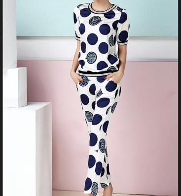 2-piece-set-women-polka-dot-sports-suit-top